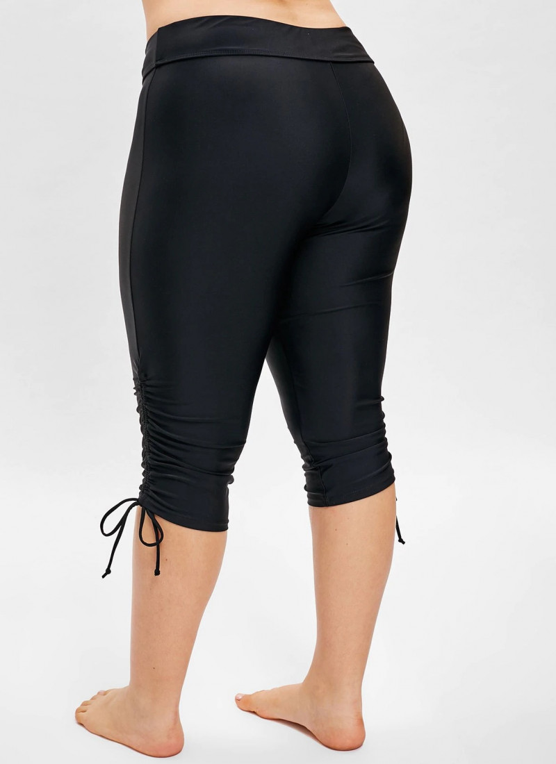 hot sale on wholesale attractive price Plus Size Side Drawstring Knee Length Swim Pants